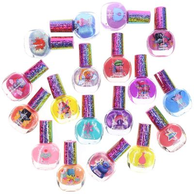 Deluxe Set Nail Polish for Kids with Glitter dreamworks trolls polish set two