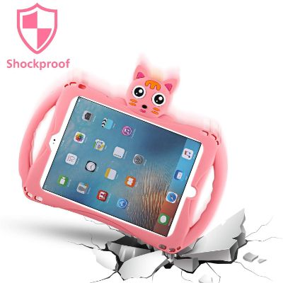 Etoden Cute Shockproof Silicone Handle Stand ipad case for kids