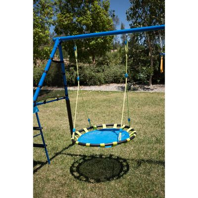 FITNESS REALITY KIDS 'The Ultimate' 8 Station outdoor playset round swing