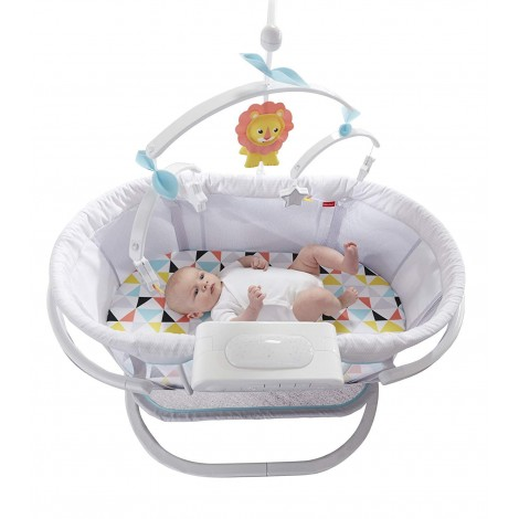 fisher price soothing motions bassinet top view