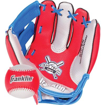 franklin sports air tech foam kids baseball gloves red