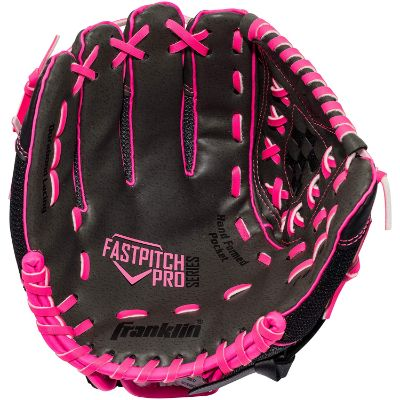 wilson windmill for softball kids baseball gloves black and pink