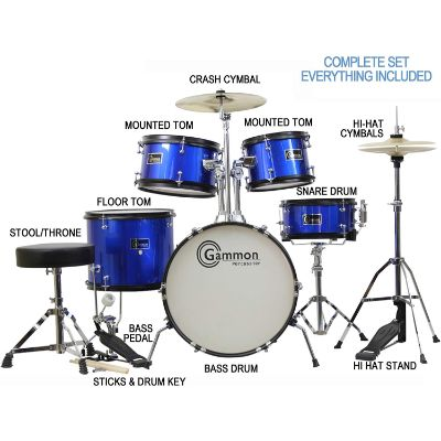 gammon 5 piece drum sets for kids and toddlers pieces