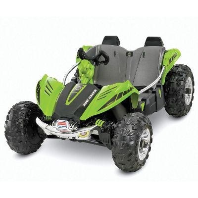 green dune racer electric cars for kids front view