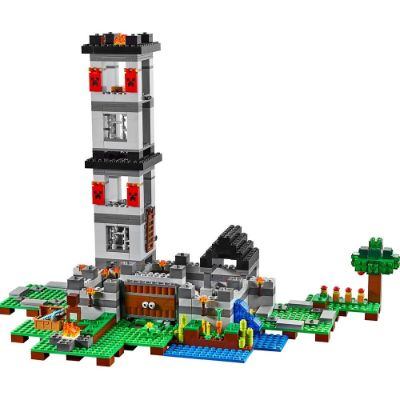 LEGO Fortress minecraft toys and minifigures for kids pack tower