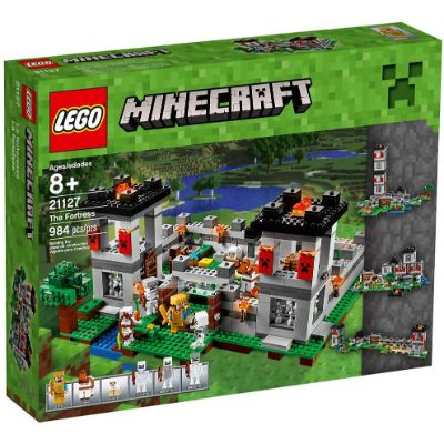 LEGO Fortress minecraft toys and minifigures for kids pack box
