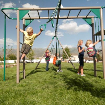 Lifetime Monkey Bar Adventure outdoor playset gym rings