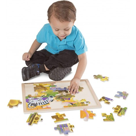 melissa & doug african plains jigsaw puzzle for kids playtime