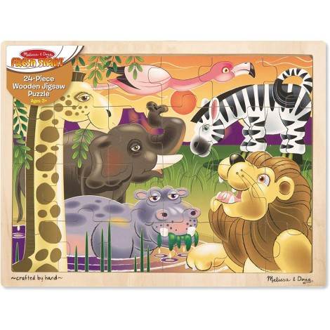 melissa & doug african plains jigsaw puzzle for kids pack