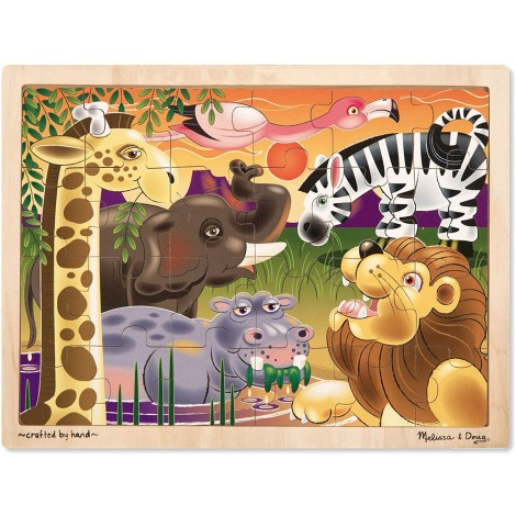 melissa & doug african plains jigsaw puzzle for kids