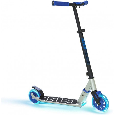 neon flash with LED lights kids scooter blue