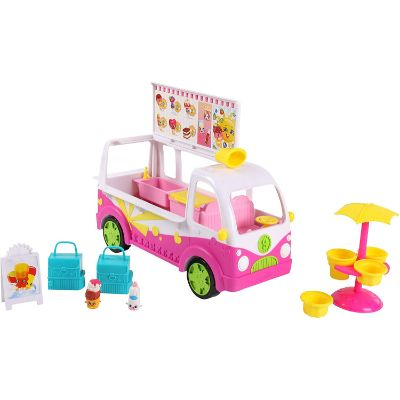 moose toys season 3 scoops ice cream truck shopkins toys for kids pink