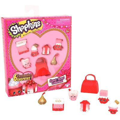moose toys sweet heart collection shopkins toys for kids pack pieces