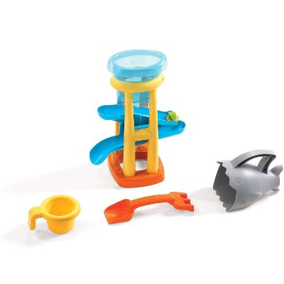step2 splash n scoop bay water & sand table for kids and toddlers toys