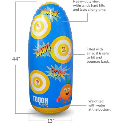 taylor toy inflatable punching bag for kids features