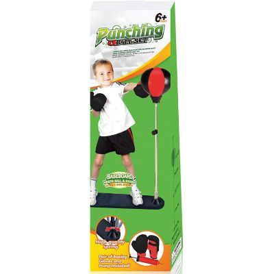 techTools ball with stand and gloves punching bag for kids box