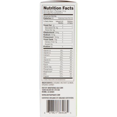 wutsup baby cereal nutrition facts
