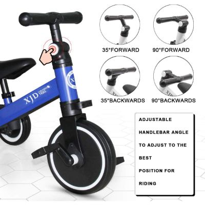 XJD 3 in 1 Tricycle big wheels for kids front