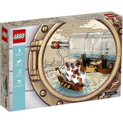 lego ship in a bottle box