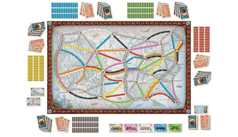 Ticket To Ride game setting