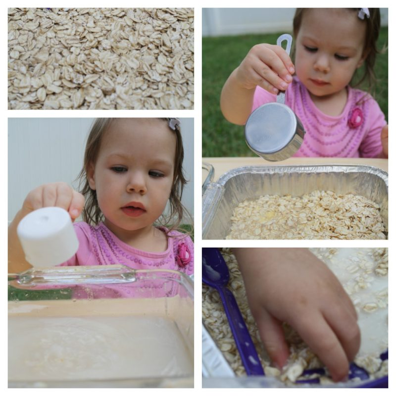 wet and dry sensory play