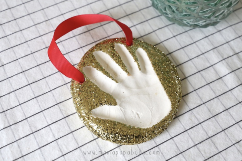 handprint clay ornament
