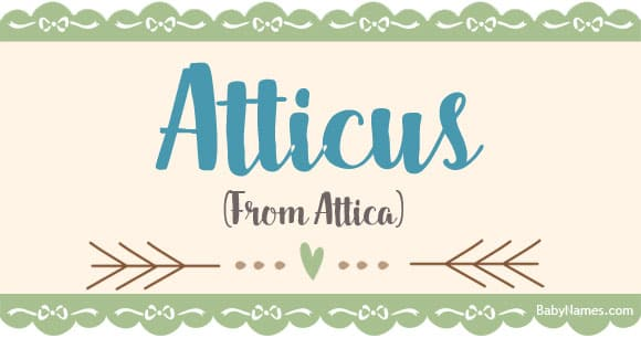 atticus middle name for boys