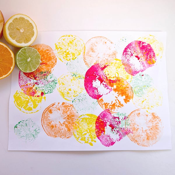 fruit print activities for kids