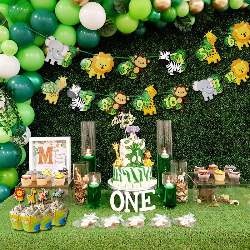 jungle first birthday theme for baby boys