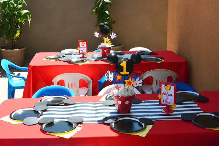 mickey mouse bday party idea