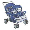 angeles surestop triplet stroller folding