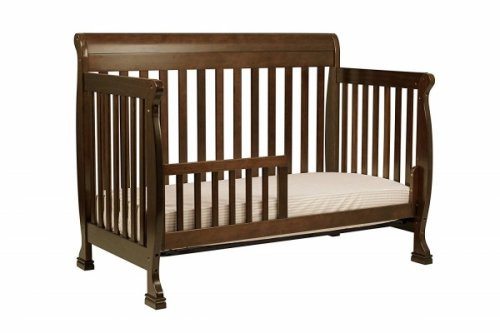 davinci kalani 4-in-1 convertible crib brown
