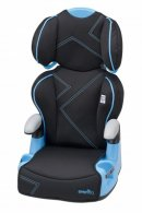 evenflo AMP blue angles high back booster seat design