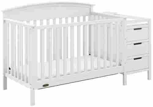 graco benton 4-in-1 crib with changing table white