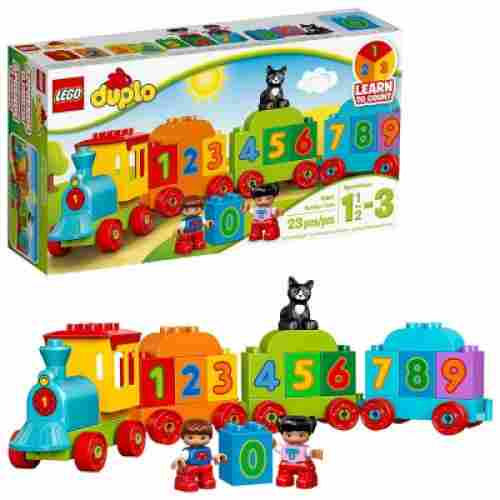 my first number train lego duplo set