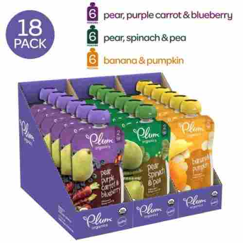 plum organics baby food pouch 18 pack
