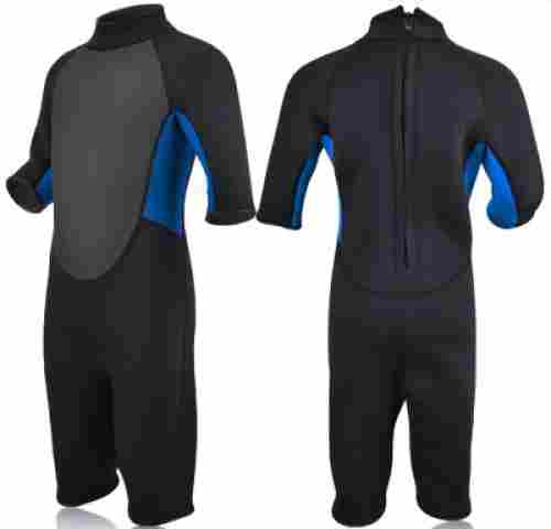 realon neoprene 3 mm kids wetsuit front and side
