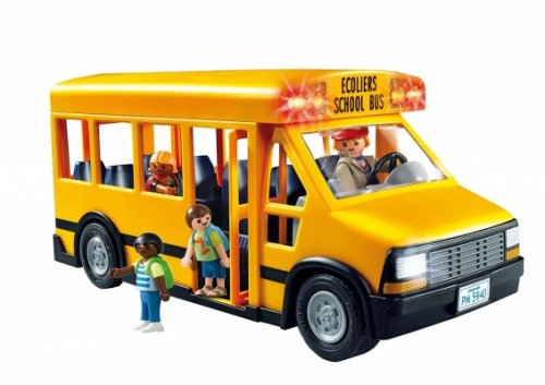 playmobil school bus and figures