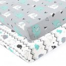 brolex stretchy fitted crib sheet design