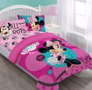 disney minnie dreaming in dots kids bedding design