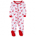 leveret christmas baby pajamas footed