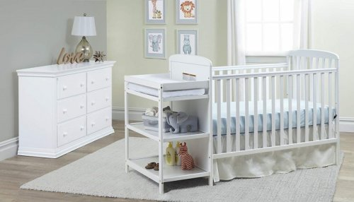 suite bebe ramsey 3-in-1 crib with changing table design