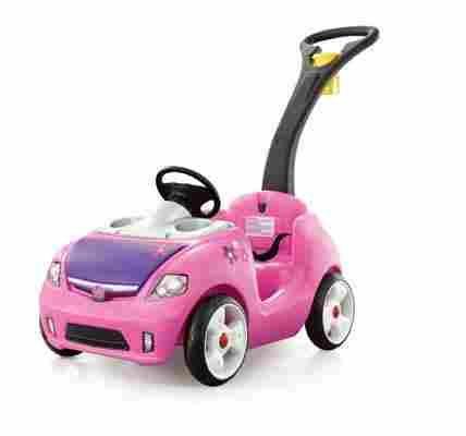 If You Would Like To Take Your 2 Year Old Girl For A Stroll Around The Neighborhood Let Her Ride Pink Whisper Buggy This On Toy Has
