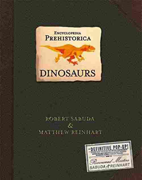 prehistorica dinosaurs pop up book cover