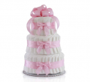 diaper cake for girls Classic Pastel Baby Shower (3 Tier, Pink)