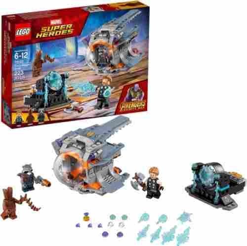 marvel lego set avengers inifinty war thor's weapon quest pieces