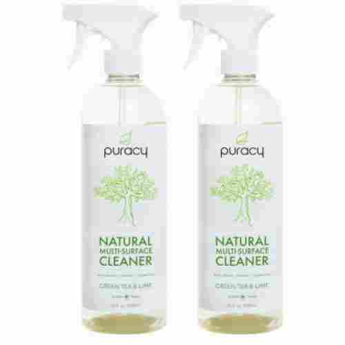 puracy natural cleaning product bottles