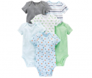 Boys' 6-Pack Short-Sleeve Bodysuit