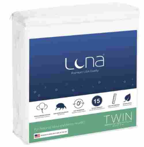 twin size luna mattress protector for kids waterproof