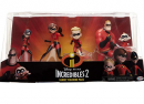 incredibles 5 piece family figure set package
